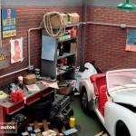 modellautos diorama TR3A Corner 3L