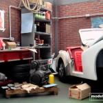 modellautos diorama TR3A Corner 5L